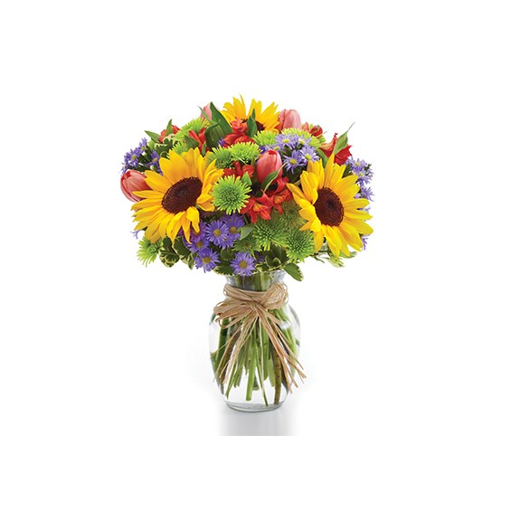 European garden flower bouquet for Spring (BF52-11KM)